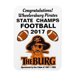 Congratulations Wheelersburg, Pirates Football - Magnet