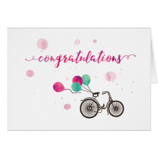 Congratulations with balloons | greeting card