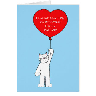 Congratulations you are foster parents. card