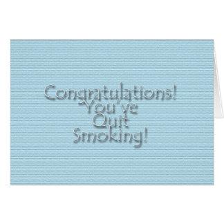 Congratulations You ve Quit Smoking Cards