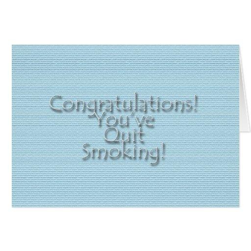 Congratulations You've Quit Smoking! Cards