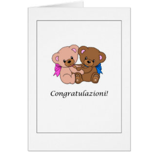 Congratulazioni! - New Baby in Italian Card