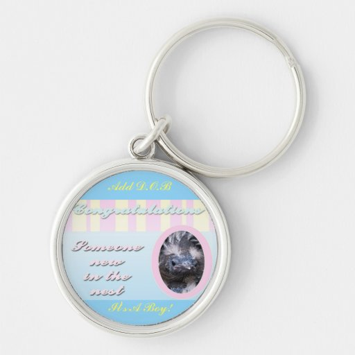 Congratutions on you new baby girl or boy key chain