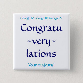 Congratuverylations 15 Cm Square Badge