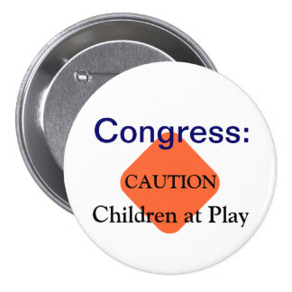Congress 7.5 Cm Round Badge