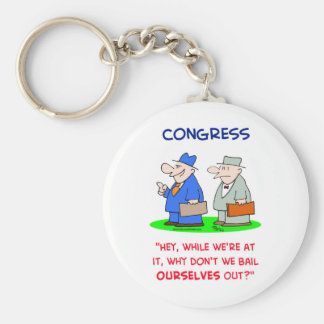 congress bail ourselves out basic round button key ring