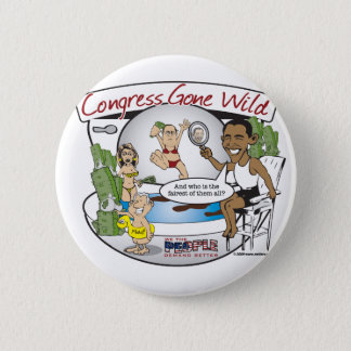 congress gone wild 6 cm round badge
