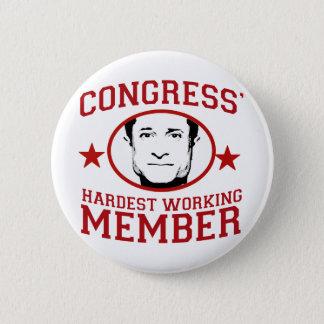 Congress' Hardest Working Member 6 Cm Round Badge