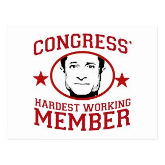 Congress' Hardest Working Member Postcard