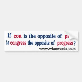 Congress-light-11x3 Bumper Sticker