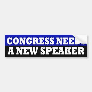Congress Needs a New Speaker Sticker Bumper Sticker