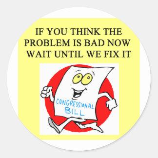 congress politics government sucks classic round sticker