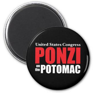 Congress: Ponzi on the Potomac 6 Cm Round Magnet