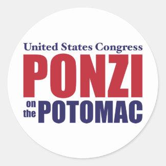 Congress: Ponzi on the Potomac Round Sticker