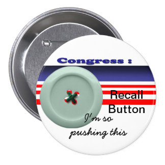 Congress recall 7.5 cm round badge