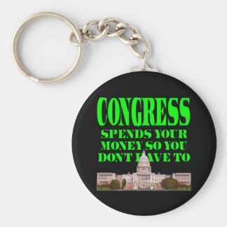 Congress Spends Your Money Basic Round Button Key Ring
