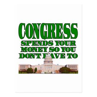 Congress Spends Your Money Postcard
