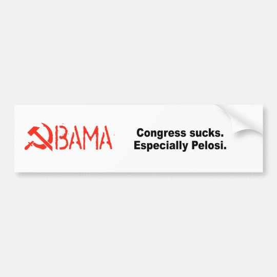 Congress sucks. Especially Pelosi Bumper Sticker