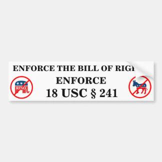 Congressional Criminals Bumper Sticker