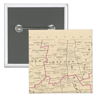 Congressional districts 15 cm square badge