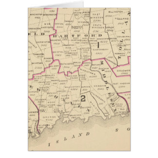 Congressional districts greeting card