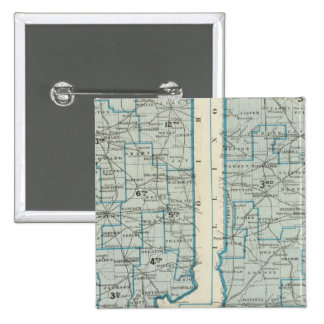 Congressional districts Judicial districts Indiana 15 Cm Square Badge