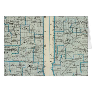 Congressional districts Judicial districts Indiana Greeting Card