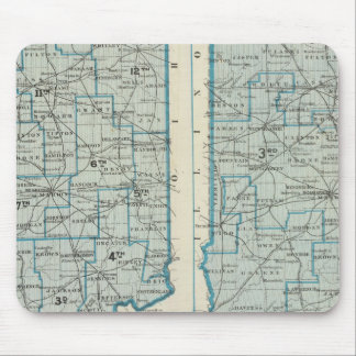 Congressional districts Judicial districts Indiana Mouse Mat