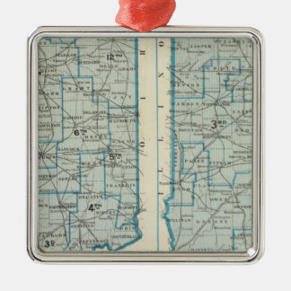 Congressional districts Judicial districts Indiana Silver-Colored Square Decoration