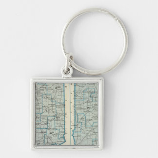 Congressional districts Judicial districts Indiana Silver-Colored Square Key Ring