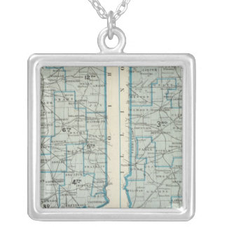Congressional districts Judicial districts Indiana Silver Plated Necklace