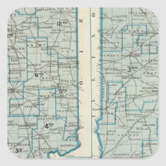 Congressional districts Judicial districts Indiana Square Sticker