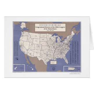 Congressional Districts Of USA  Map Card
