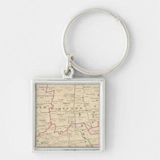 Congressional districts Silver-Colored square key ring