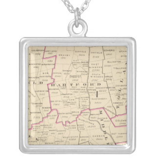 Congressional districts silver plated necklace