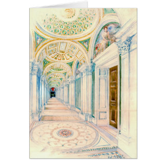 Congressional Library Washington DC 1897 Greeting Card