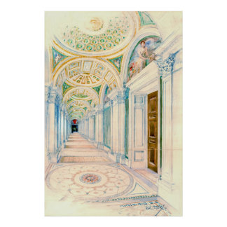 Congressional Library Washington DC 1897 Poster
