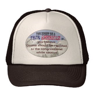 congressional white caucus trucker hat