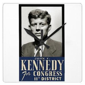 Congressman John F. Kennedy circa 1946 Clock