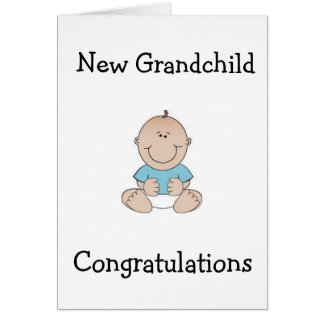 "CONGRTULATIONS ""GRANDPARENTS"" ON NEW GRANDCHILD GREETING CARD"