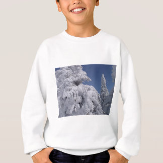 Conifer trees plastered with snow sweatshirt