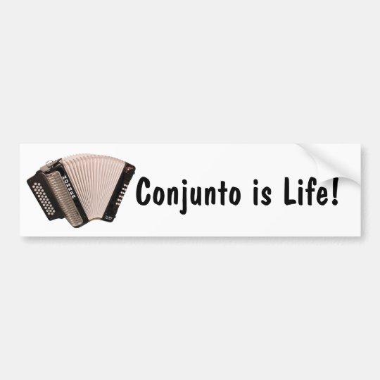 Conjunto is Life Sticker Bumper Sticker