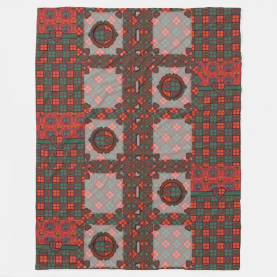 Conley clan Plaid Scottish kilt tartan Fleece Blanket