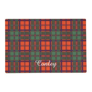 Conley clan Plaid Scottish kilt tartan Laminated Place Mat