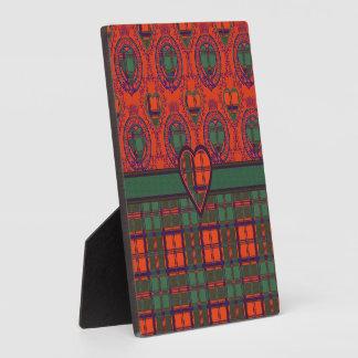 Conley clan Plaid Scottish kilt tartan Plaque