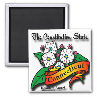 Conn Mountain Laurel Constitution State Magnet