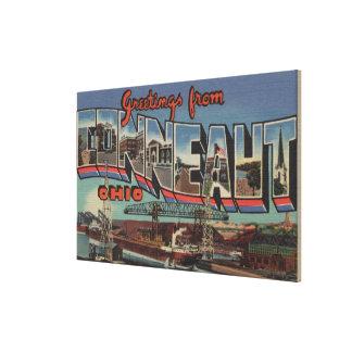 Conneaut, Ohio - Large Letter Scenes Canvas Print