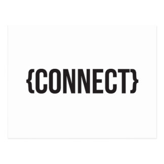 Connect - Bracketed - Black and White Postcard