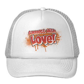 connect with love orange graffiti hats
