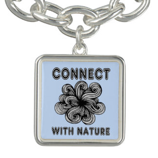 """""""Connect with Nature"""" Square Charm Bracelet"""